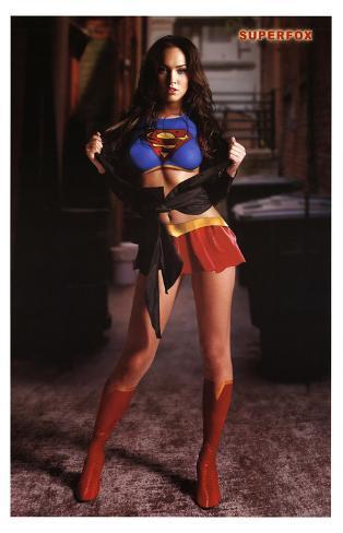 Megan Fox Superfox (Supergirl/Superman) Movie Poster Print Masterprint
