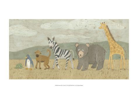 Animals All in a Row II Art Print