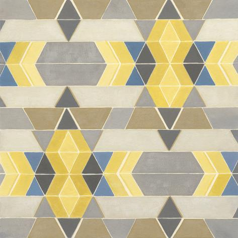 Blue and Yellow Geometry I Art Print