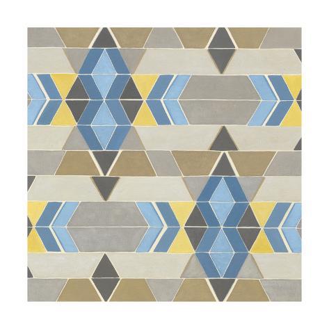 Blue and Yellow Geometry II Art Print