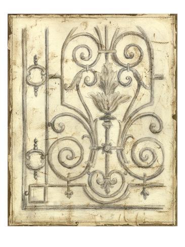 Decorative Iron Sketch III Art Print