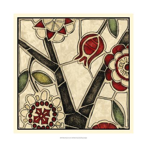 Floral Mosaic I Art Print