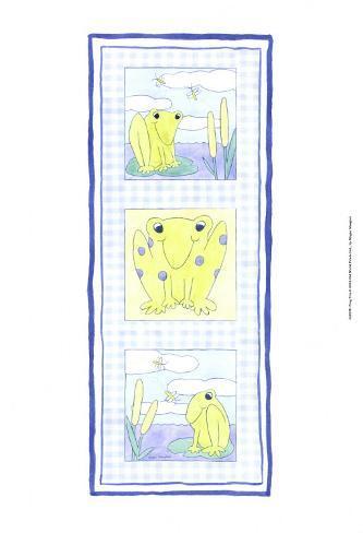 Frog Trio Art Print