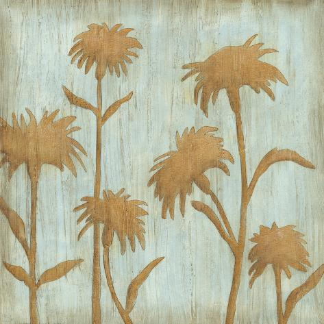 Golden Wildflowers II Stampa giclée premium