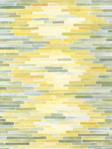 Green and Yellow Reflection II Premium Giclee Print