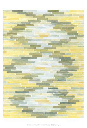 Green & Yellow Reflection I Art Print