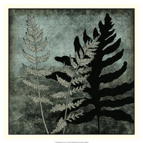 Illuminated Ferns I Giclee Print