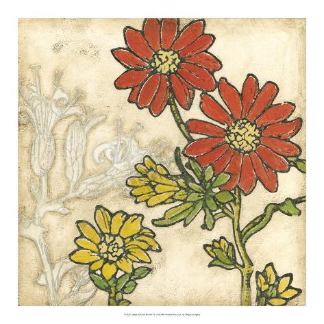 Indian Summer Florals I Giclee Print