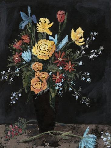 Noir Floral I Art Print