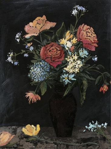 Noir Floral II Art Print