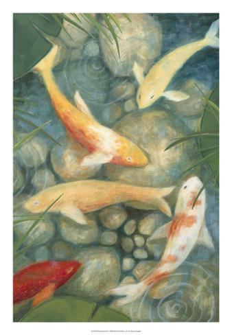 Reflecting Koi II Framed Art Print