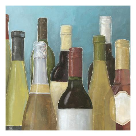 Wine Bottles II Art Print