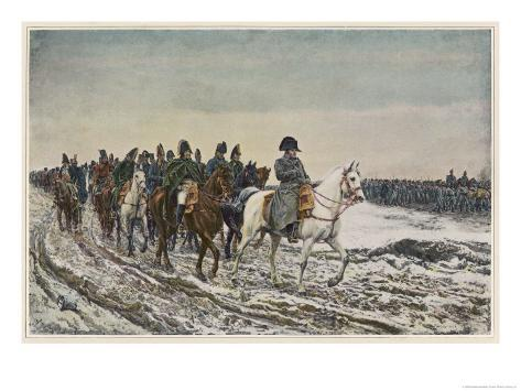 Napoleon at the Head of His Staff During the Campaign of France Giclee Print