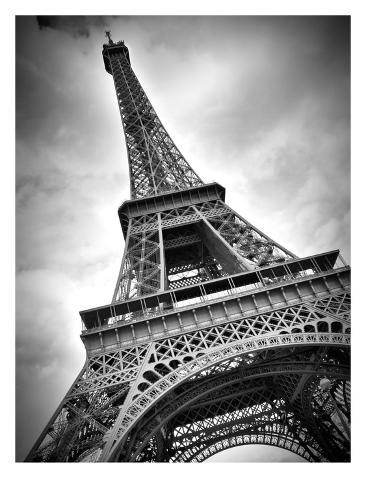 Paris Eiffel Tower Dynamic Stretched Canvas Print By Melanie Viola At Allposters