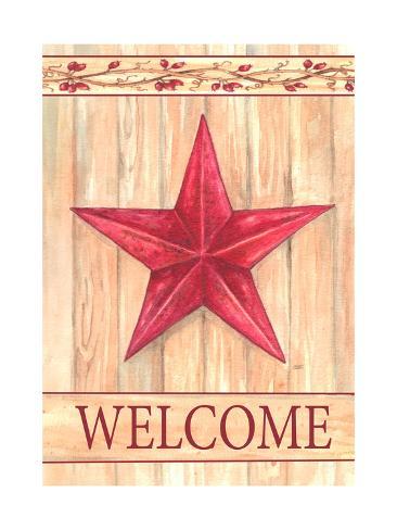 Barn Star Welcome Stampa giclée