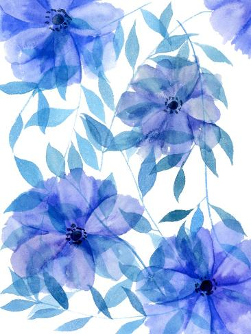 Midnight Flowers II Stampa artistica