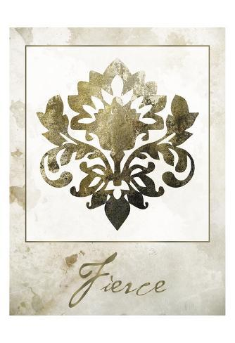 Fierce Damask Art Print
