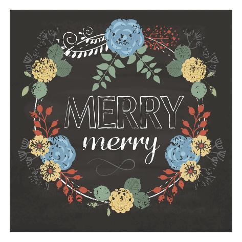 Merry Merry Blue Art Print