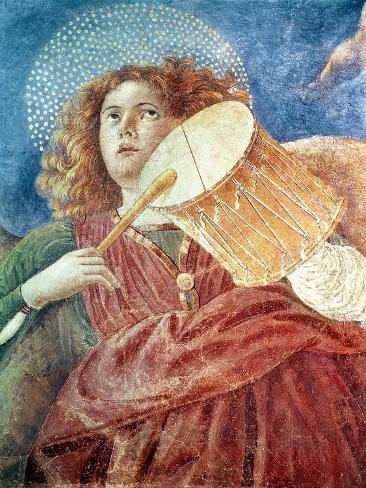 Musical Angel with Drum Giclee Print