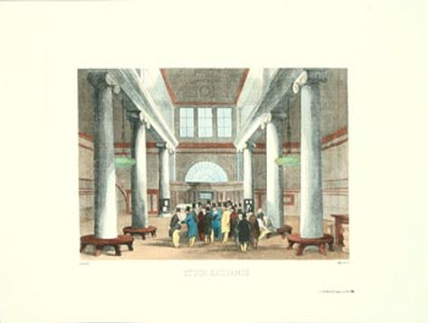 Stock Exchange Art Print