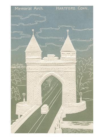 Memorial Arch, Hartford, Connecticut Art Print