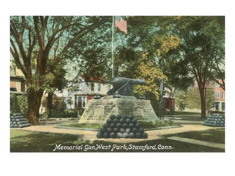 Memorial Gun, Stamford, Connecticut Art Print
