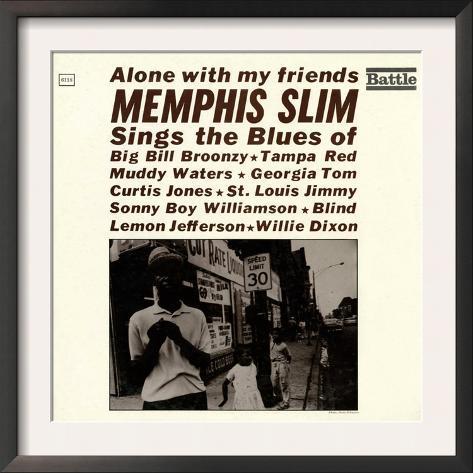 Memphis Slim - Alone with My Friends Framed Art Print