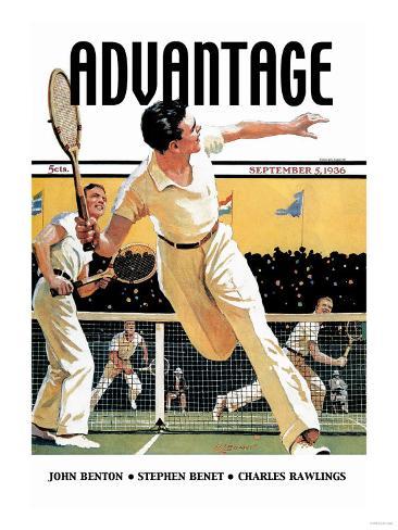 Men Play Tennis Lámina