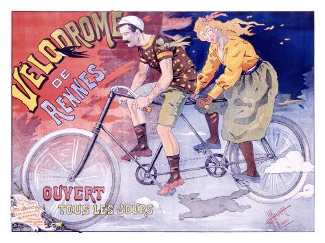 Velodrome de Rennes Giclee Print