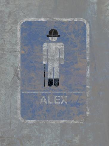 Mens Bathroom - Alex Poster