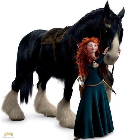 Merida and Angus - Disney / Pixar BRAVE Cardboard Cutouts