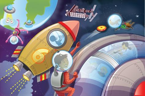 Life in Space - Jack & Jill Giclee Print