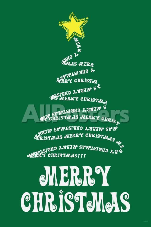 オールポスターズの merry christmas tree art poster print 写真