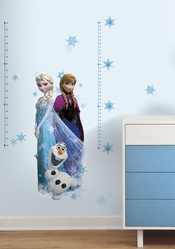 Metro da muro di Frozen - Il regno di ghiaccio - Elsa, Anna e Olaf (sticker murale) Decalcomania da muro