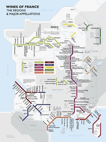 Metro France Wine Map Poster Posters - AllPosters.ca