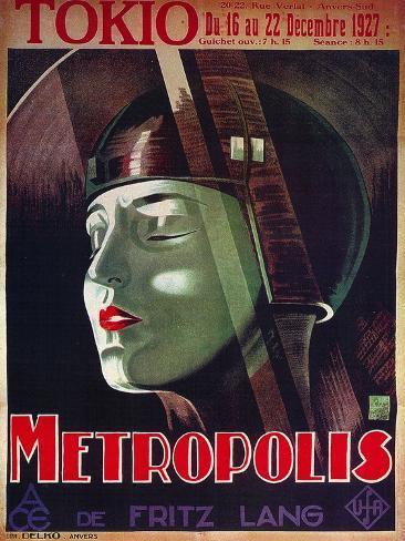 Metropolis, French Movie Poster, 1926 Art Print