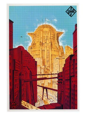 Metropolis, German Movie Poster, 1926 Konstprint