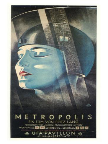 Metropolis, German Movie Poster, 1926 Art Print