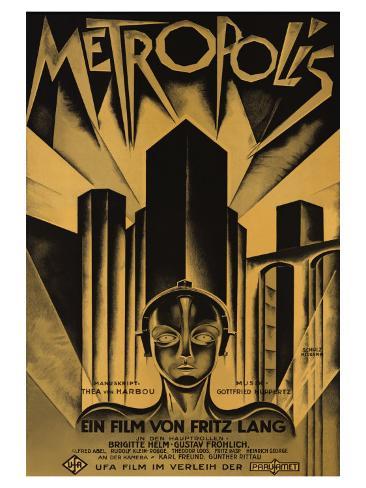 Metropolis, German Movie Poster, 1926 Taidevedos