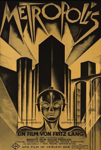Metropolis - German Style Poster