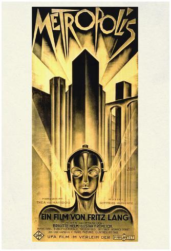 Metropolis Movie Fritz Lang Poster Print Póster