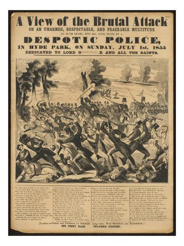 Political Poster Condeming 'Despotic Police' Giclee Print