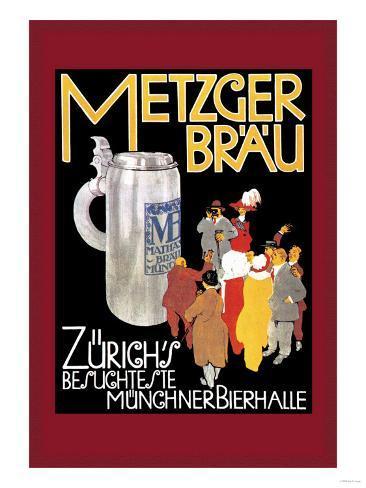 Metzger Blau Art Print