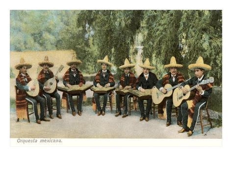 Mexican Orchestra Art Print