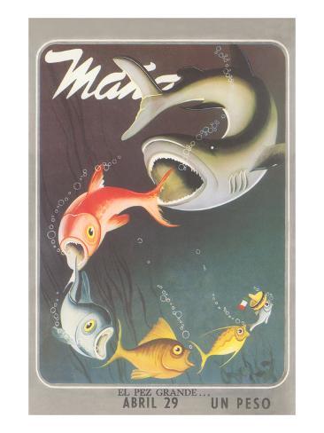 Mexican travel poster big fish prints for Big fish printing
