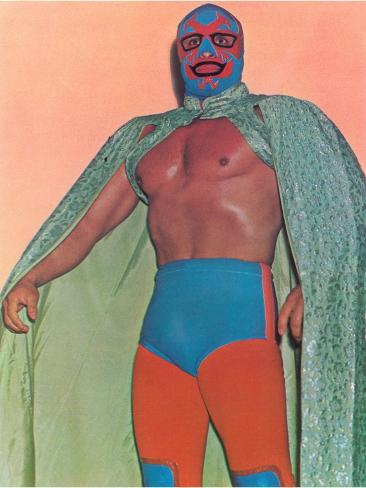 Mexican Wrestler with Thunderbird Motif Art Print