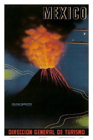 Mexico: Paricutin Volcano, c.1943 Art Print