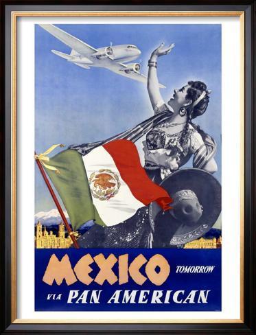 Mexico Tomorrow Impressão giclée emoldurada