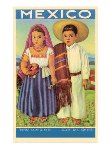 Mexico: Two Peasant Children Art Print