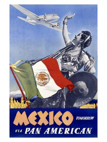 Mexico via Pan American Giclee Print